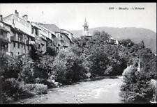BOUDRY (SUISSE) VILLAS & EGLISE , Bord de l'AREUSE début 1900