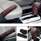 Useful 2 Pcs/Set Car Leather Hand Brake & Gear Shift Case Interior Accessories