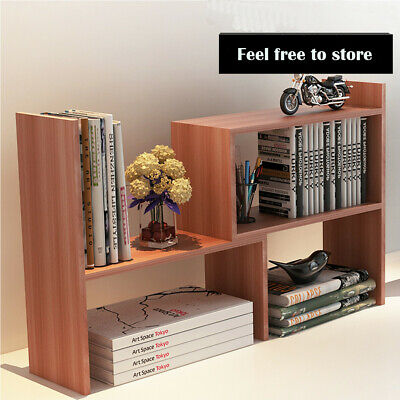 Scalable Bookcase Desktop Shelf Desk Rotatable Bookshelf Storage Organizer  DIY | eBay