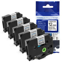 5PK TZe-231 Compatible for Brother P-Touch TZ-231 Label Maker Tape 12mm PT-D210