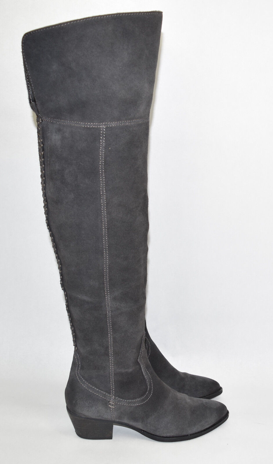 Dolce Vita 'Silas' Over the Knee Boot Anthracite Suede Gray Size 6.5