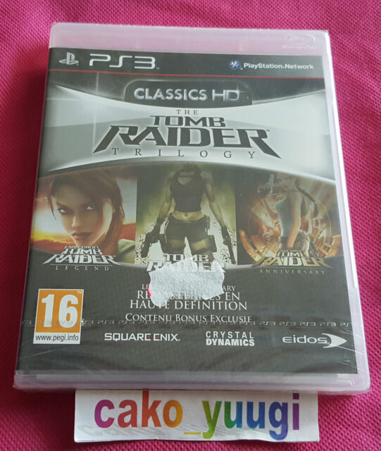 TOMB RAIDER TRILOGY CLASSICS HD SONY PS3 NEUF VERSION 100% FRANCAISE