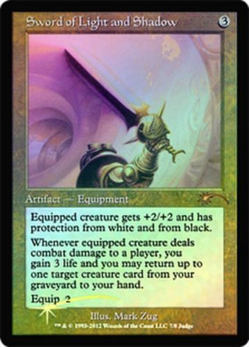 1 NM sword of light and shadow judge version FOIL magic MTG card FREE Tracking!