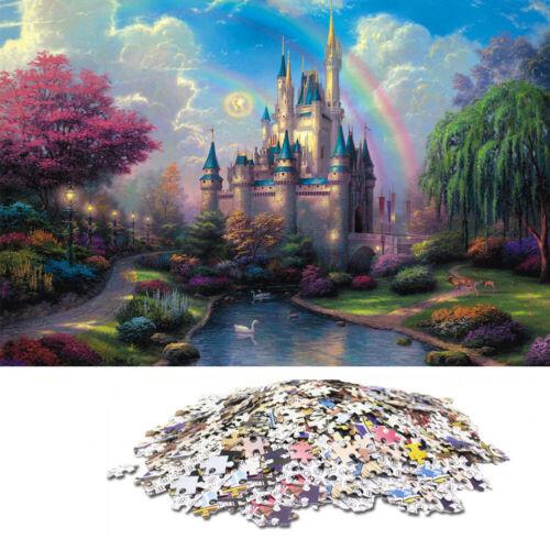 1000 Pieces Adults Kid Puzzles Difficult Noctilucent Growups Puzzle Dream Castle
