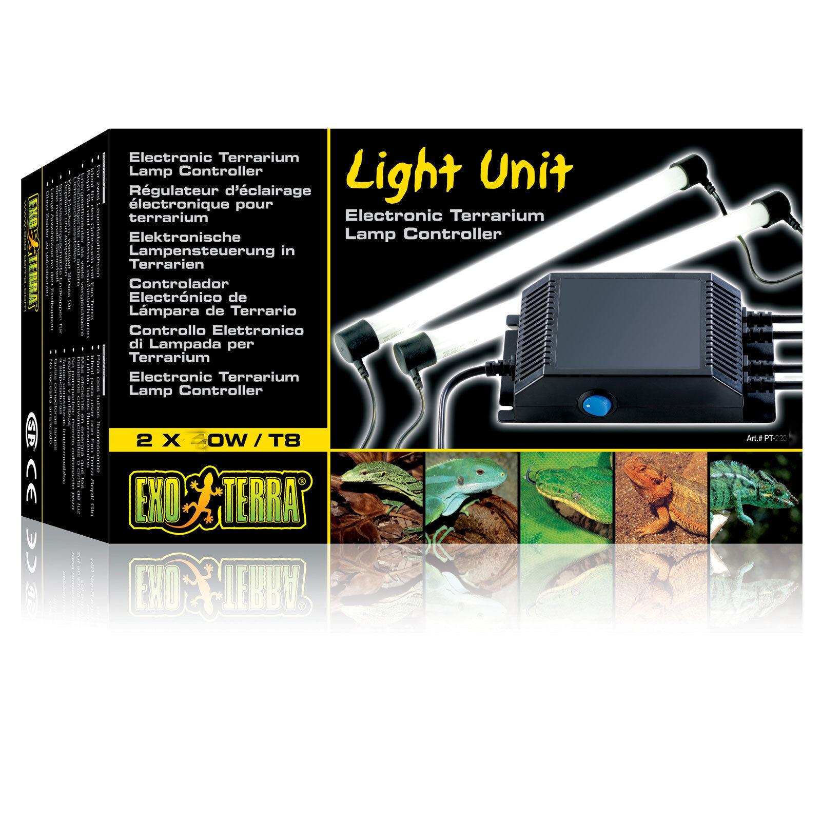 EXO terra Light Unit T8 T10 20 W 30 W 40 W alimentatore elettronico