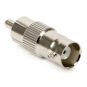 50-PACK Metal Nickel RCA Male to BNC Female Adapter converter NY USA