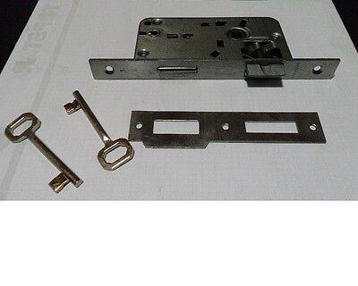Thema serratura EXPORT bordo tondo in acciaio interasse 70 mm quadro 8 mm nuovo