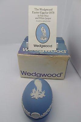 Wedgwood Heron Egg Trinket Dish Easter Series 1978 Boxed Blue Jasperware Rare