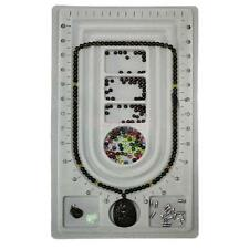 Flocked Bead Board String Beading Jewelry Design Organiser Tray Craft Tool S