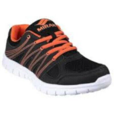 cf1f157428193 Mirak Milos Unisex Trainers Black And Orange   eBay