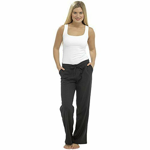 Ladies Women Full Length Linen Trousers with Elasticated Waist with Tie