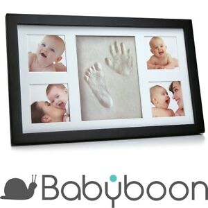 Babyboon-Hand-and-Footprint-Photo-Frame-Kit-4-COLOURS-IN-ONE-PACK-BLACK