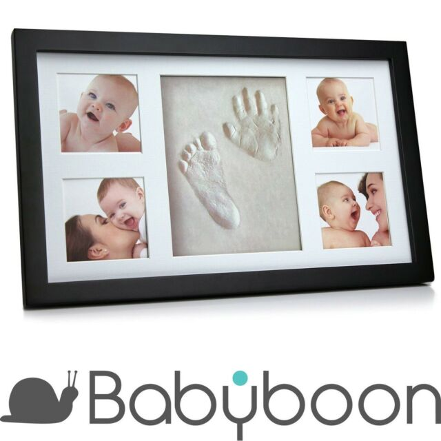 Babyboon Hand and Footprint Photo Frame Kit - 4 COLOURS IN ONE PACK ( BLACK )