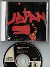 JAPAN Adolescent Sex JAPAN CD VDP-1153 w/BOOKLET 3,008JPY David Sylvian Free S&H