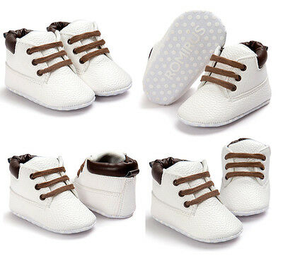 Toddler Baby Boys Girls Soft Sole Crib Shoes Sneakers Size Newborn to 18 Months