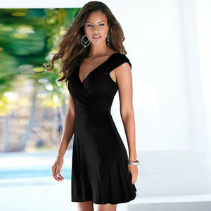 Women/'s ladies Summer Vneck short Length Casual Bodycon Dress Backless dress