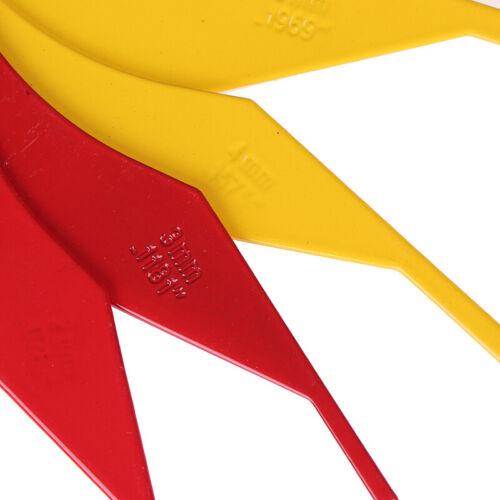 8in1 Metal Brake Lining Thickness Gauge Measure Ruler Brake Pad Scale Kit ToolQP