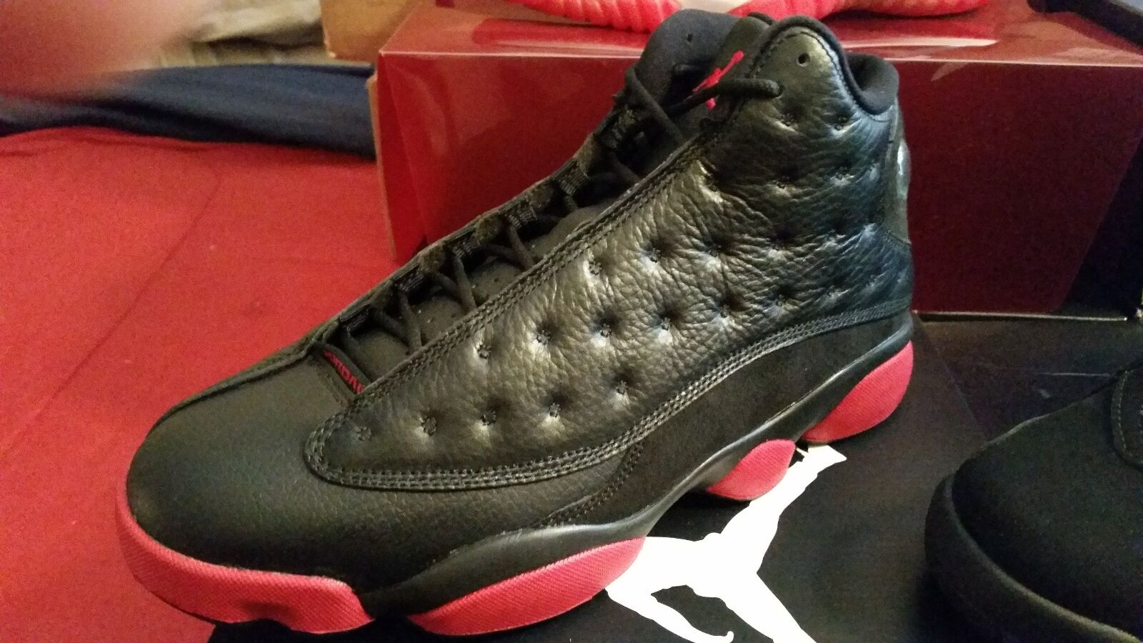 Nike Air Jordan Retro 13 XIII DIRTY BRED Black Gym Red  Size 10 Basketball shoes