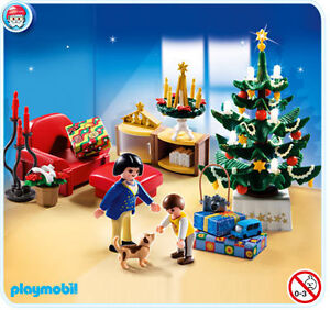11991132c9a PLAYMOBIL 4892 Christmas Room Tree Lights up - for sale online