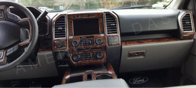 Ford F 150 F150 Xlt Crew Cab Interior Wood Dash Trim Kit Set 2015 2016 2017 2018 Ebay