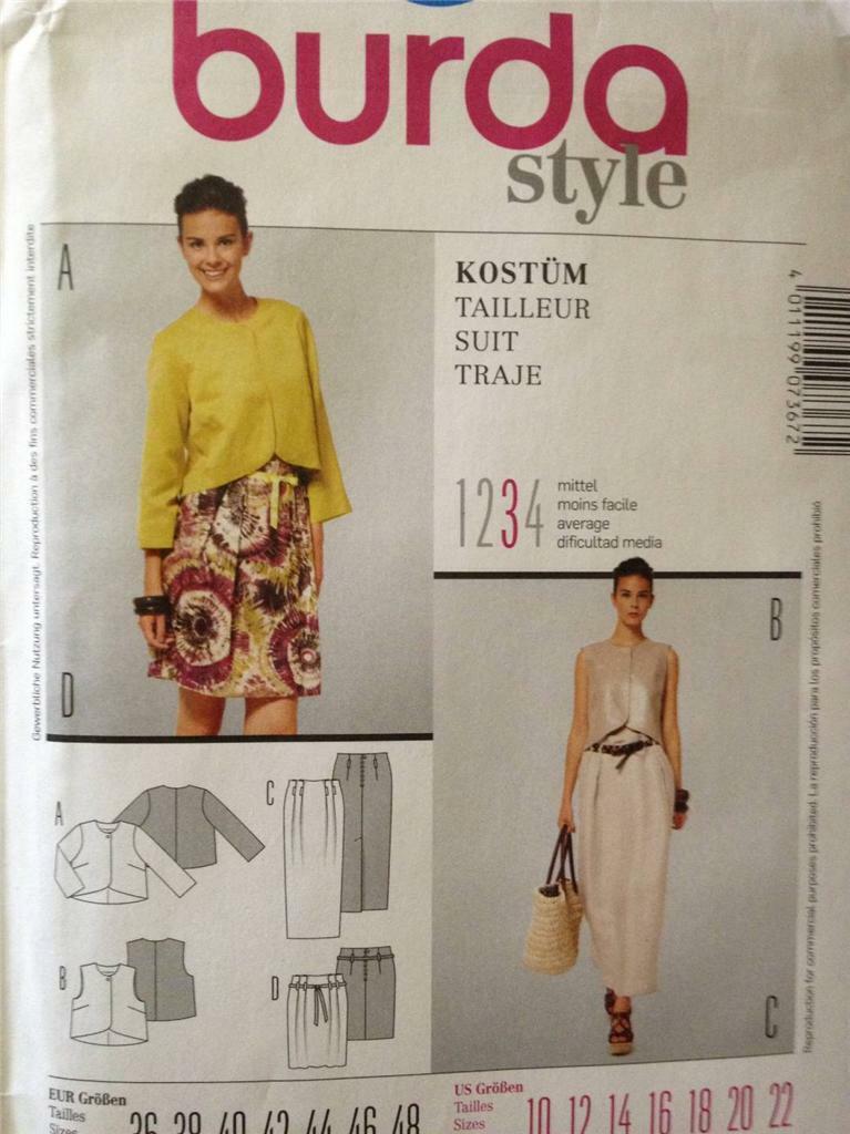 Burda-... Burda Ladies Sewing Pattern 6583 Evening Dresses with Flutter Sleeves