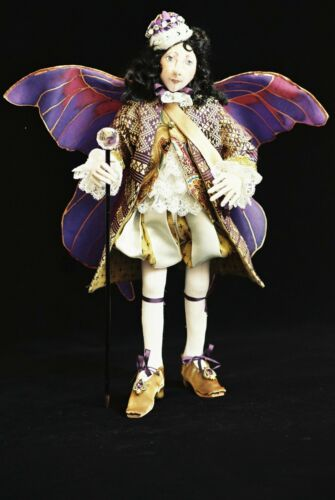 "PATTERN /""OBERON/"" BY SUZETTE RUGOLO PAPER *NEW* CLOTH ART DOLL"