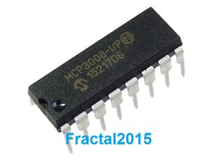 MCP3008-I-P-Convertisseur-analogique-vers-numerique-Octal-16DIP