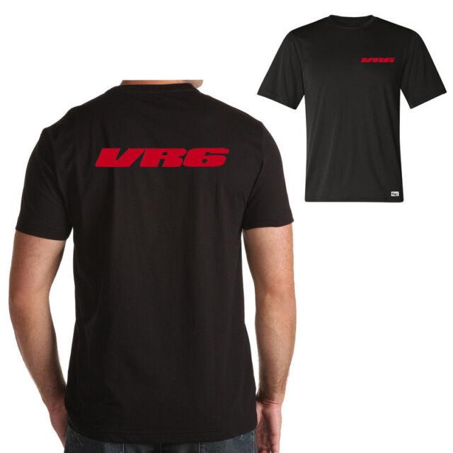 """EAKS® Herren T-Shirt """"VR6-Schriftzug"""" schwarz #3 Logo Emblem Car Auto-Fahrer"""