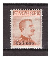 s10170) CALINO 1917 MVLH* Nuovi ling.* Sass. 9  - 1v Definitives 20c OVPTD