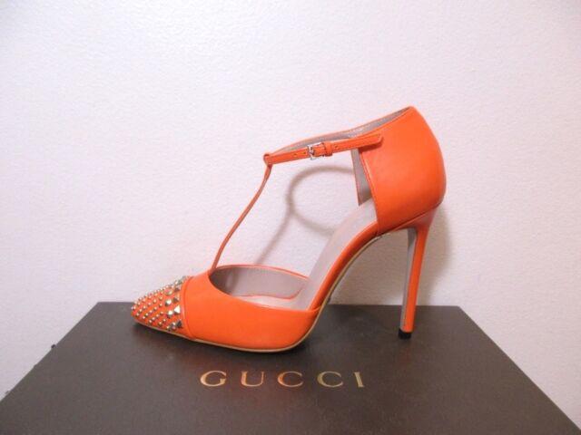 fd64ac0404e Gucci Coline Studded Nose T Strap Pumps Shoes 37.5 7.5