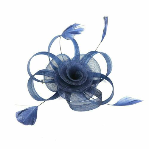 Flower Feather Net  Fascinator with Clip /& Headband Wedding Races Parties ascot