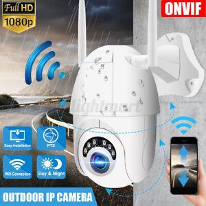 1080P Outdoor HD FUNK WLAN WIFI IP NETZWERK CAMERA AUßEN ÜBERWACHUNGSKAMERA Neu
