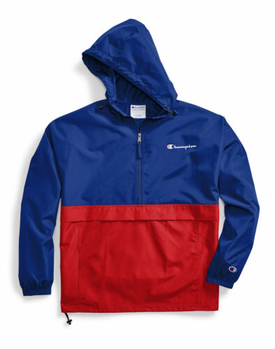 Champion Jacket Mens Colorblocked Packable Water Wind Resistant Scuba Hood NWT