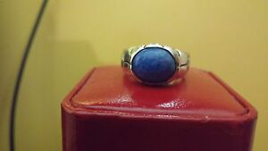Vintage-Esposito-925-sterling-silver-and-lapis-lazuli-ring-Signed-Size-9
