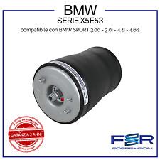 BMW X5 E53 MOLLA AD ARIA SOFFIONE SOSPENSIONE AMMORTIZZATORE POSTERIORE SX