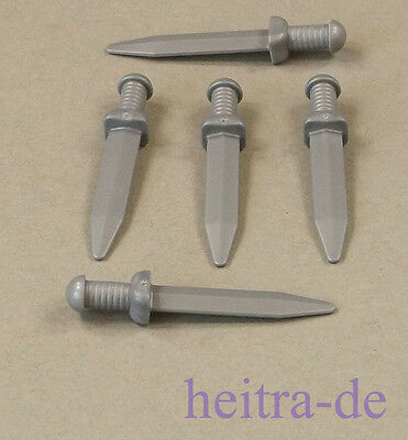 Affidabile Lego - 5 X Spada Argento Romana/gladiatore/roman Gladius/95673 Merce Nuova-mostra Il Titolo Originale