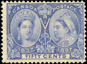 1897-Mint-NH-Canada-F-Scott-60-50c-Diamond-Jubilee-Stamp