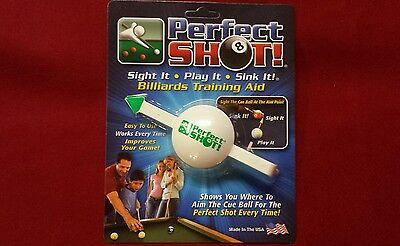 Perfect Shot Pool Training Aid Cue Shot Pool Billiards
