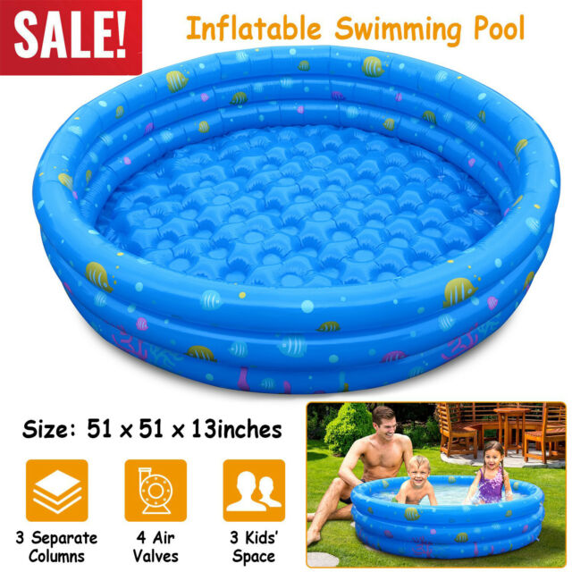 Summer Waves Small Kiddie 8 Inflatable Kids Swimming Pool With 3d Floor Pattern For Sale Online Ebay