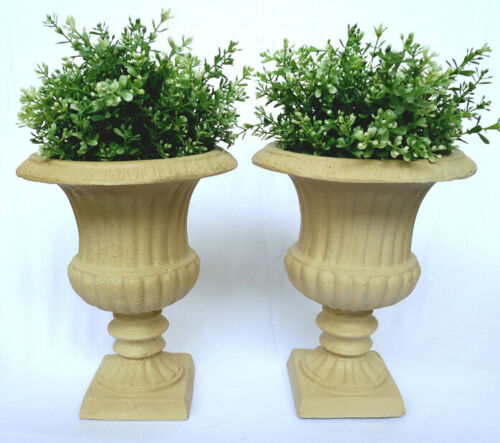 2er Set Pokal Amphore Kratervase Pflanztopf Blumentopf Blumenkübel Antik CA62-b