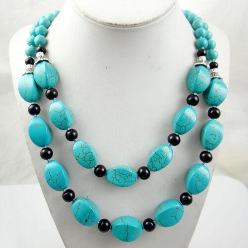 Natural SEDIMENT JASPER /&Turquoise Handmade Gemstone Jewellery Necklace TN3