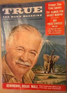 TRUE, the Mans's Magazine, February 1956, Hemmingway, rogue male