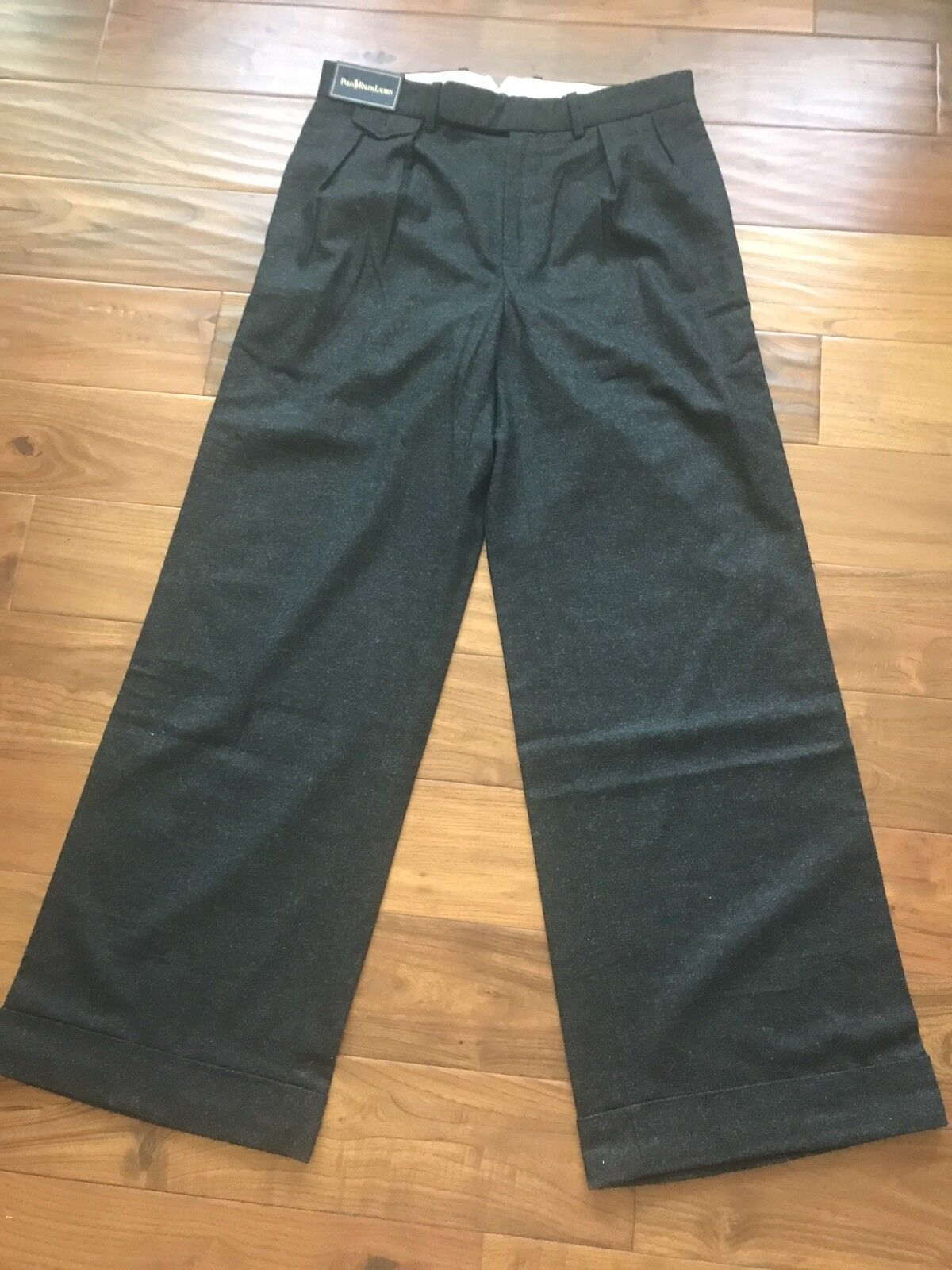 Polo By Ralph Lauren Classic Style Mens Wool Blended Pants Size 32 32