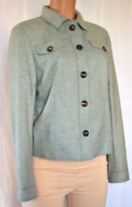 Next 10 Buttons Size Longues Col Akris Cachemire En À Jacket Manches Green TWqHwP0