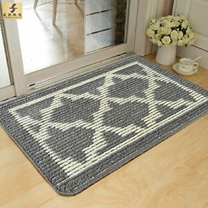 Image Is Loading Grey Mat Floor Rug Door Welcome Doormat Indoor