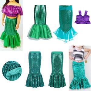 989440d0b8620 Girls Mermaid Tail Skirt Halloween Costume Fancy Cosplay Party ...