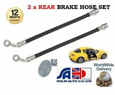 FOR MAZDA RX8 1.3 2.6 ROTARY ENG 2003--  NEW 2x REAR BRAKE RUBBER FLEXI HOSE SET