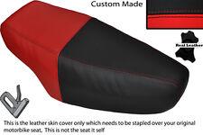 RED & BLACK CUSTOM FITS HONDA NH 125 LEAD DUAL LEATHER SEAT COVER