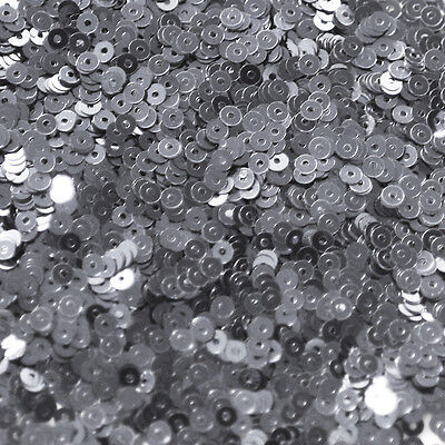 5mm Cup SEQUIN FACET PAILLETTES ~ Premium HEMATITE Gray Metallic ~ Made in USA