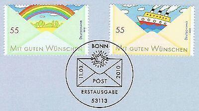 Aktiv Brd 2010: Post: Wünsche! Nr. 2786+2787 Mit Dem Bonner Ersttagsstempel! 1a! 1706